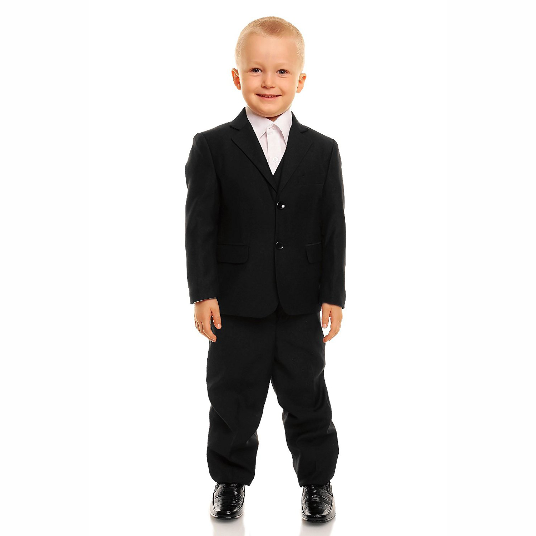 1affa4b3c ... 5 Piece Black Boy Suits Boys Wedding Suit Page Boy Party Prom Return to  Previous Page. Sale. lightbox