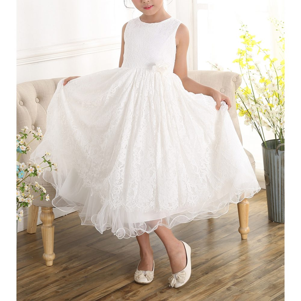 Ivory Lace Bridesmaid Dress Flower Girl Dress