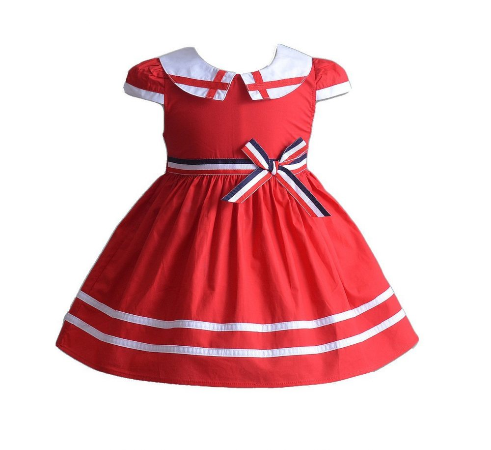 Girls England Style Cotton Dress