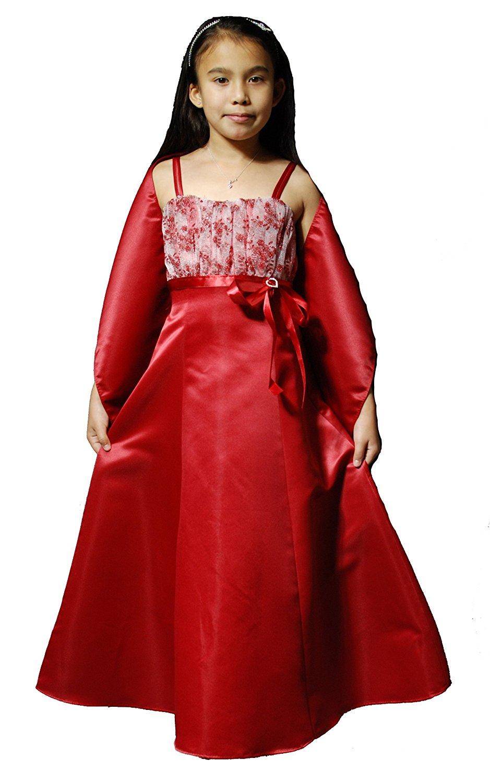 Girls Satin Bridesmaid Dress