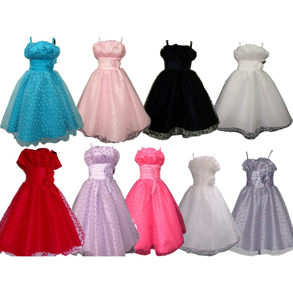 Girls Party Dress Flower Girl Dress KLX001