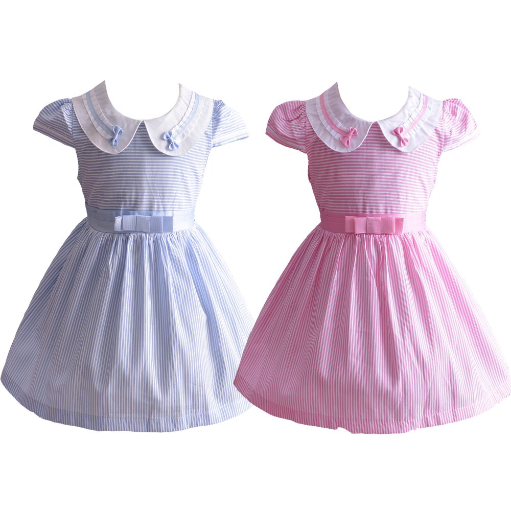 Girls Striped Party Dress XL6992