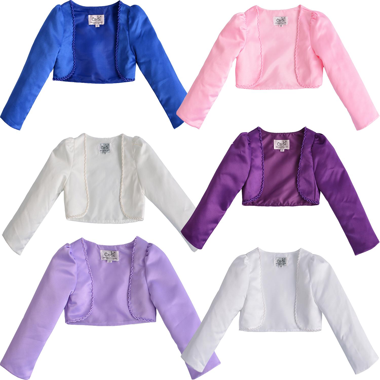 Cinda Clothing Little Girls Satin Bolero