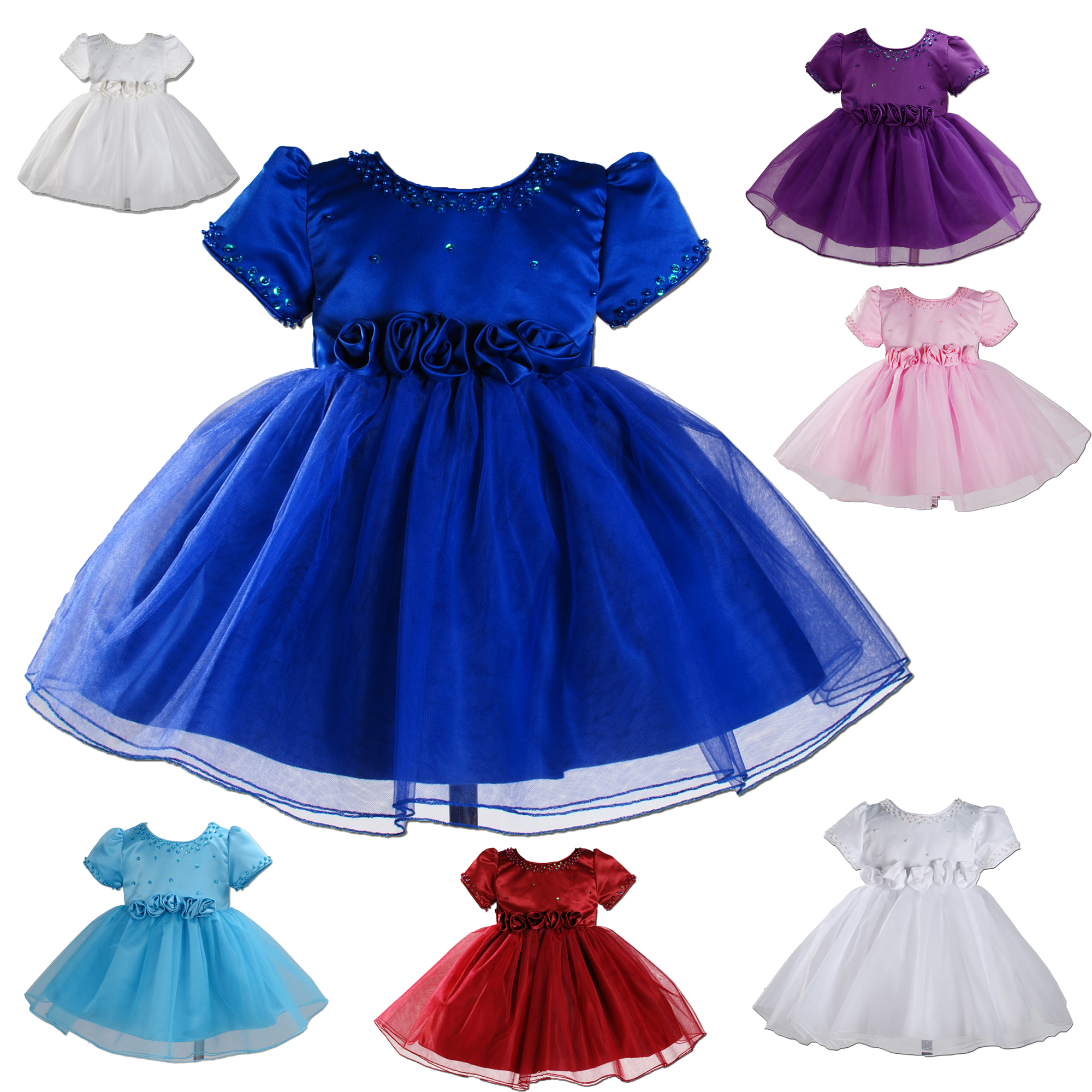 d6c8978e9 Baby Girls Party Dress 6-9 Months to 2-3 Years 888 - cinda.co.uk