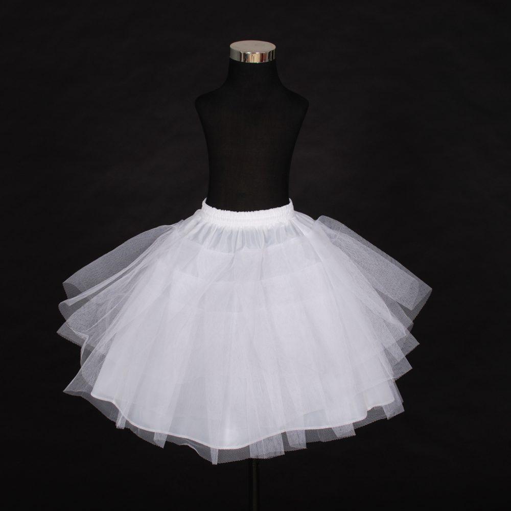 Flower Girl Bridesmaid 4 layer White Underskirt Petticoat One Size