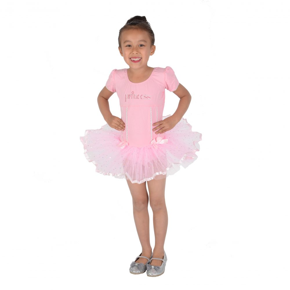 Girls Pink Princess Ballet Dress Dance Tutu Dress 2 3 4 5 6 7 8 Years