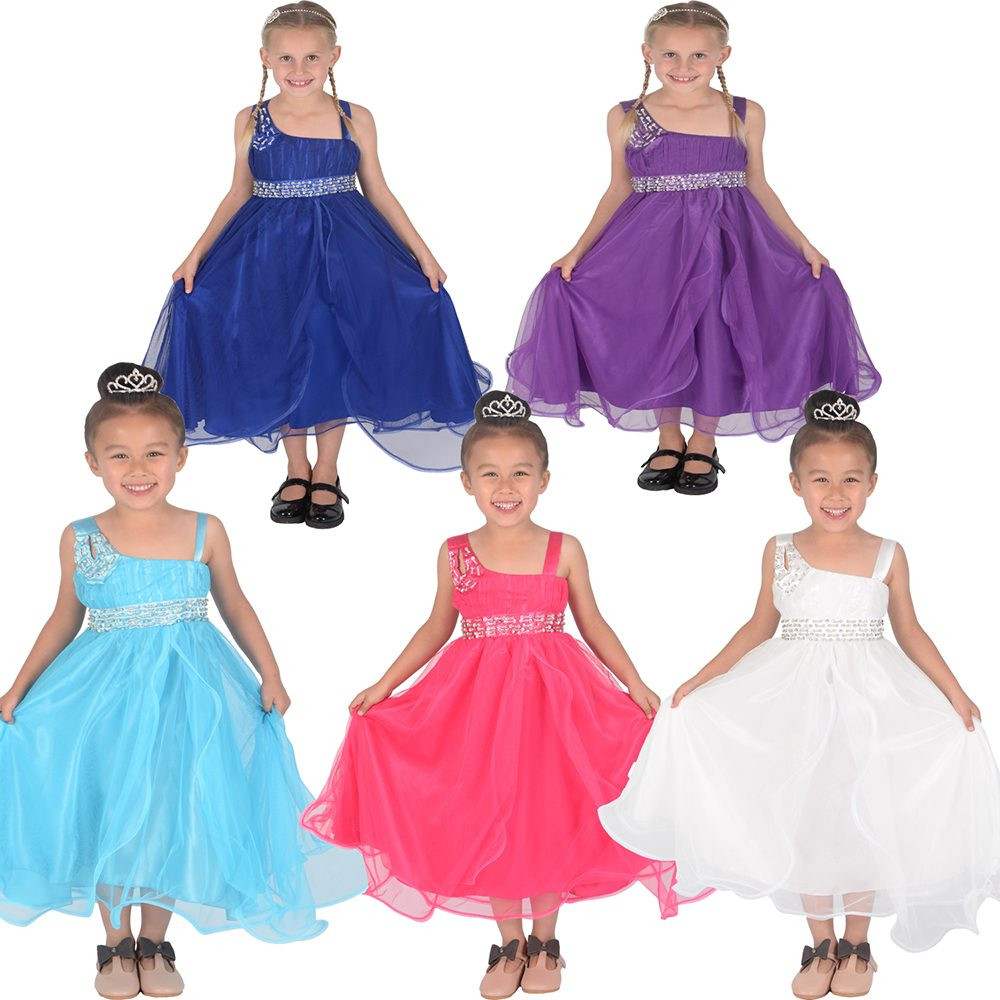 Flower Girl Bridesmaid Dress Party Dress 12 Months to 12 Years