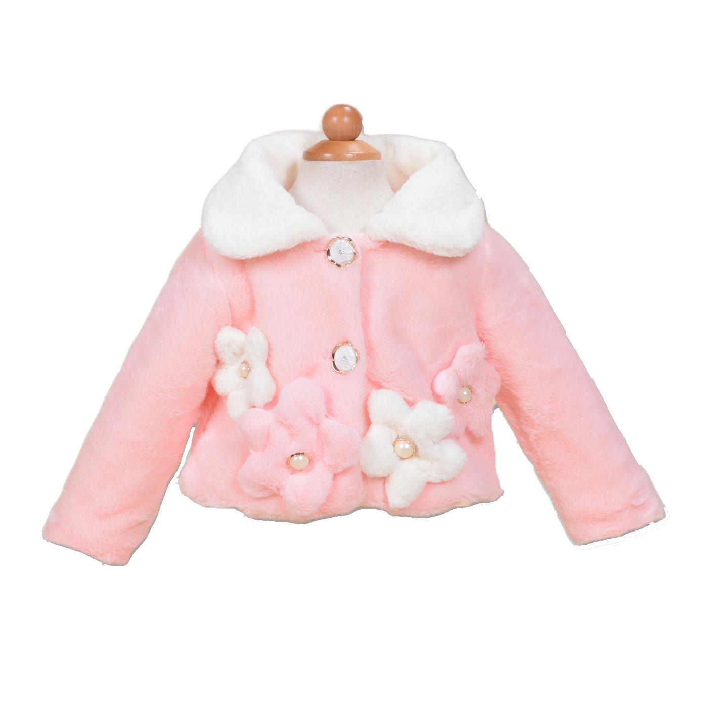 Cinda Clothing Little Girls Faux Fur Coat Bolero